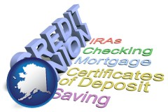 ak map icon and credit union services