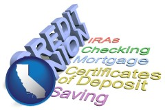 ca map icon and credit union services
