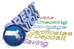 ma map icon and credit union services