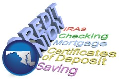 md map icon and credit union services