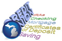 mi map icon and credit union services