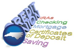 nc map icon and credit union services
