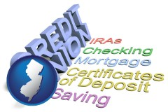 nj map icon and credit union services