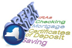 ny map icon and credit union services
