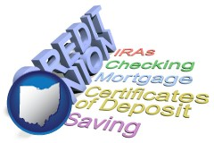 oh map icon and credit union services