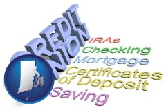 ri map icon and credit union services