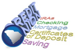 sc map icon and credit union services