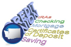 wa map icon and credit union services