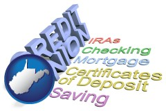 wv map icon and credit union services